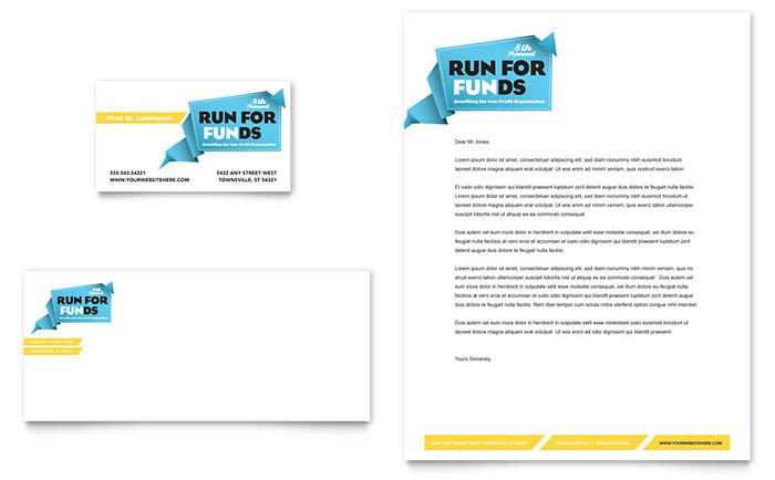 Charity Fun Run Stationery Design