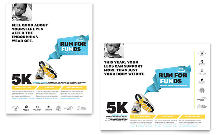 Charity Fun Run Poster Design