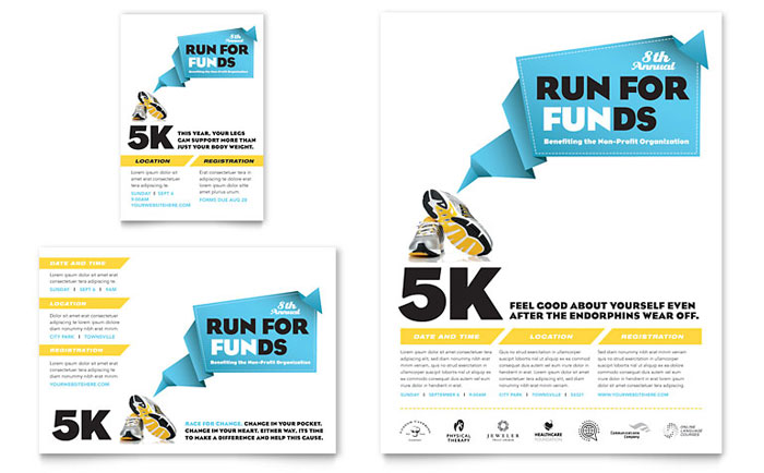 Charity Fun Run Flyer & Ad Design