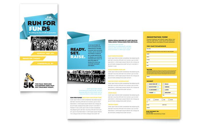 Charity Fun Run Tri-Fold Brochure Design