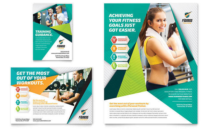 Advertisements & Flyer Sample - Fitness Trainer