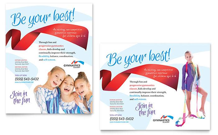 Gymnastics Academy - Poster Design Example
