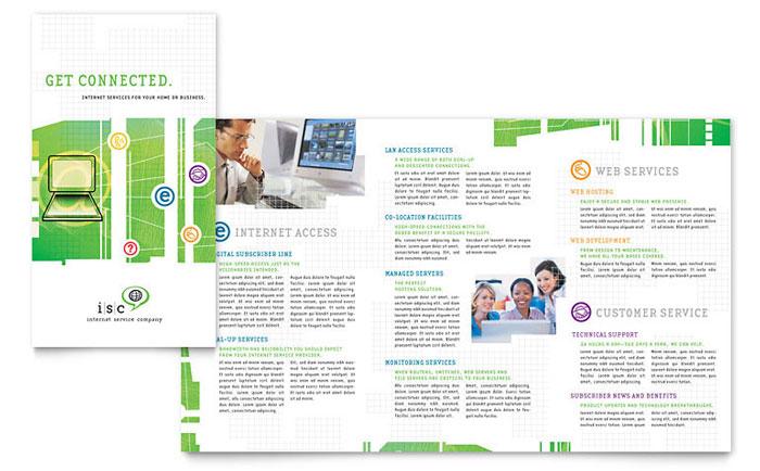 ISP Internet Service Brochure Template Design