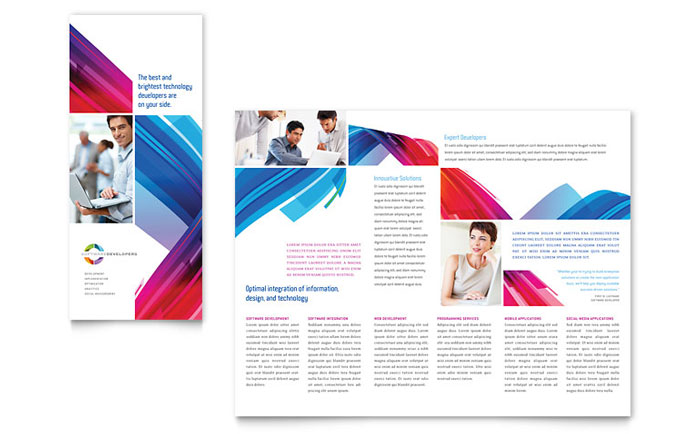 Software Solutions Tri Fold Brochure Sample Design