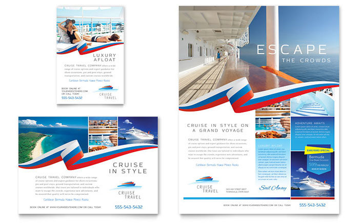 Flyer & Ads Example - Cruise Travel