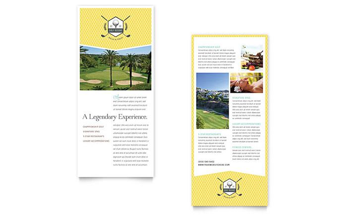 Golf Resort - Rack Card Sample