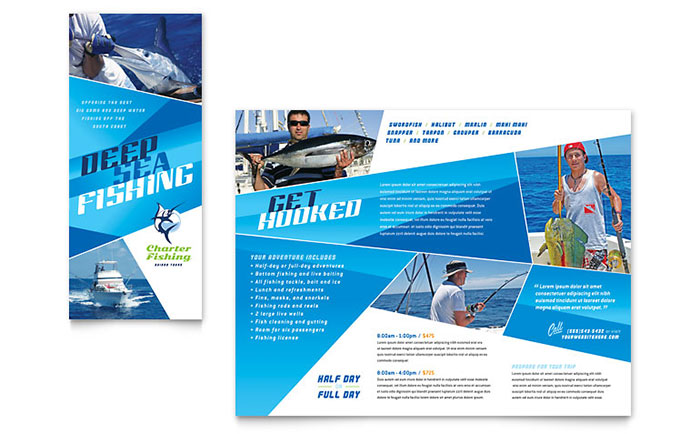 Charter Fishing - Brochure Design