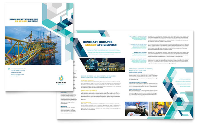 Oil & Gas Company - Brochure Design Example