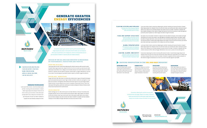 Oil & Gas Company - Datasheet Design Example
