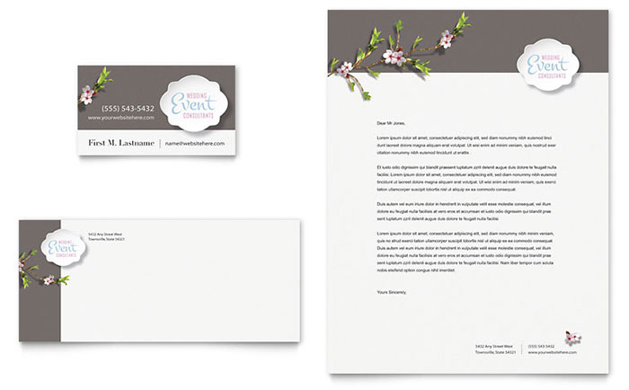 Wedding Planner - Business Card & Letterhead Design