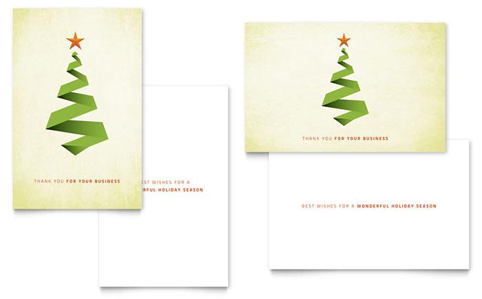 Ribbon Tree Greeting Card Design