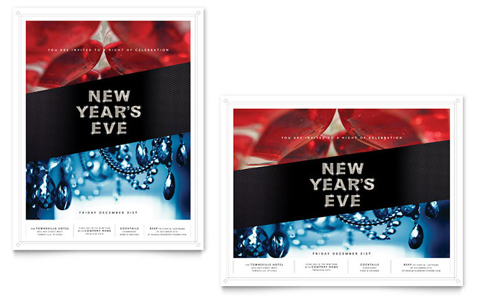 New Year's Eve Party Poster Design