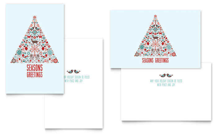 Holiday Art Greeting Card Design