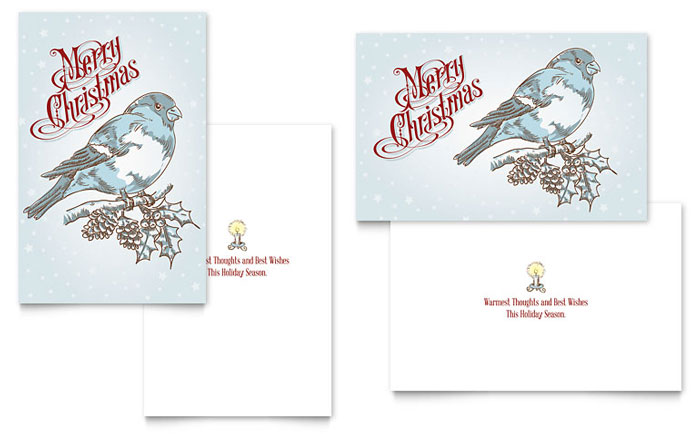 Vintage Bird Greeting Card Design