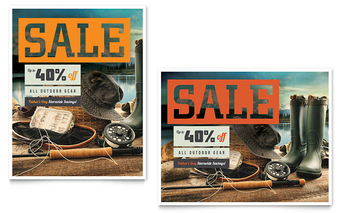 Sale Poster Example - Fishing Gear