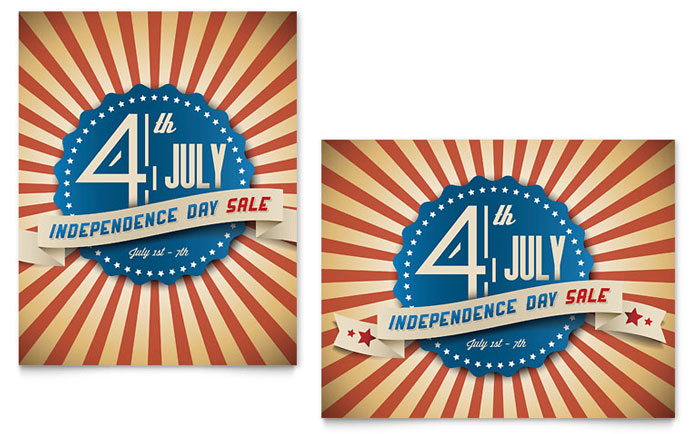 4th of July Sale Poster Example