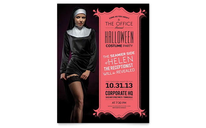 Flyer Example - Halloween Office Party