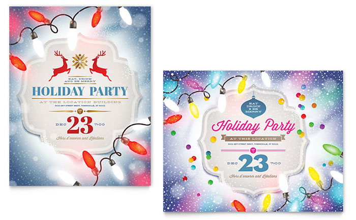 Office Christmas Party Invitations That Light Up the Holidays – Office Holiday Party Invites