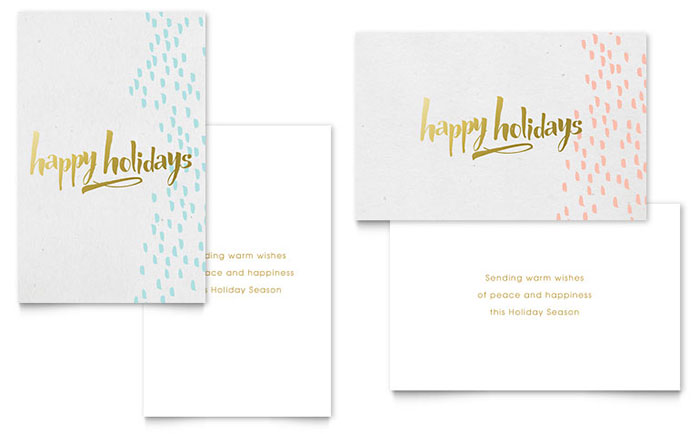 These are usually given on special occasions such as new year, christmas, birthdays, weddings, anniversaries, valentine's day, teacher's day, father's and mother's day, and the likes. Elegant Gold Foil Greeting Card Template Design