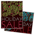Stylish Holiday Trees Poster Design