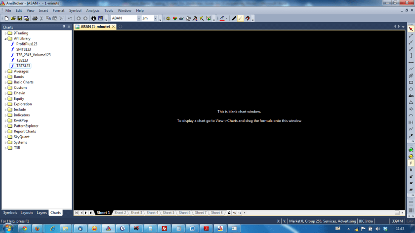 Amibroker Blank Screen