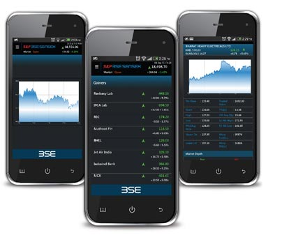 stock market on mobile