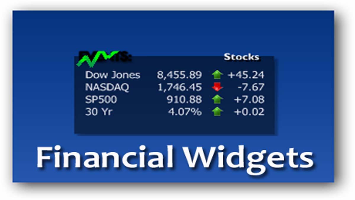 Financial Widgets