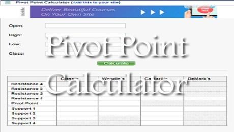 Pivot Point Calculator | StockManiacs