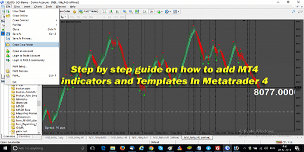 How To Add MT4 Indicators And Templates