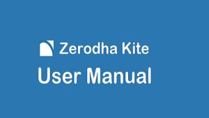 zerodha kite user manual