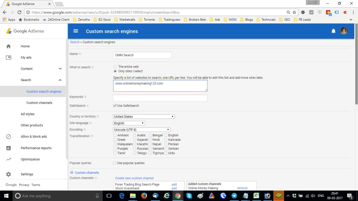 Add Custom Search Engine