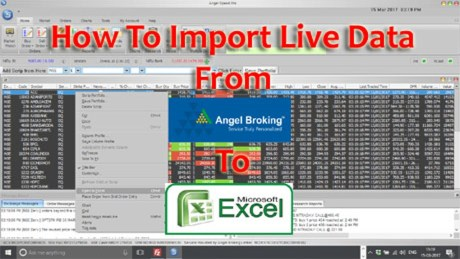 How To Import Live Data From Angel Speed Pro To Microsoft Excel?