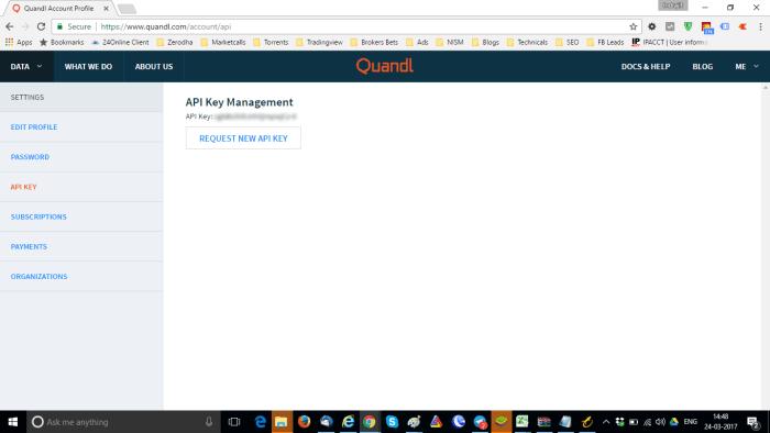 Quandl API Key