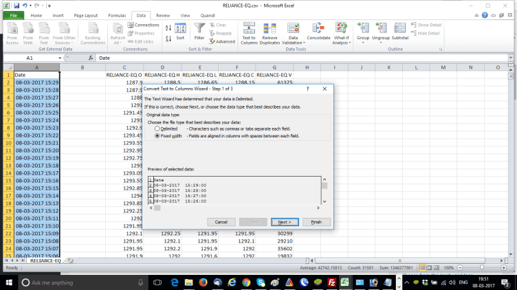 Text To Column Excel