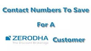 Zerodha Customer Care
