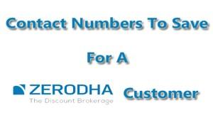 Zerodha Customer Care