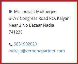 Contact us and our branch offices all over India  Zerodha