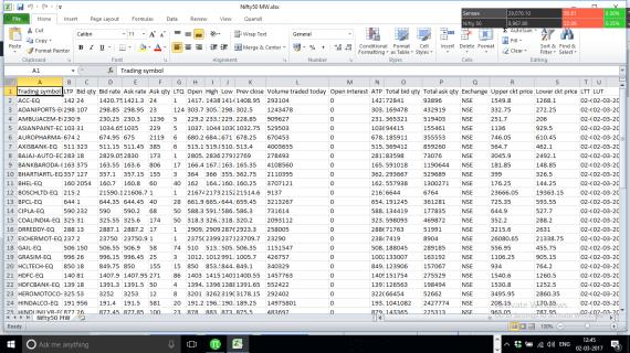 Zerodha Pi To Excel