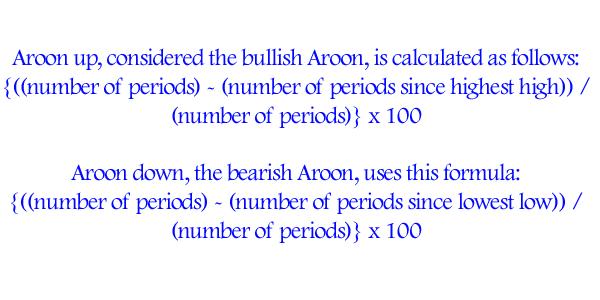Arron Indicator Formula