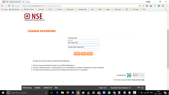 NSE Pathsala Change Password