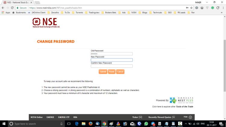NSE Pathsala Change Password