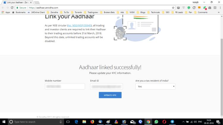 Link Aadhaar With Demat Account Online