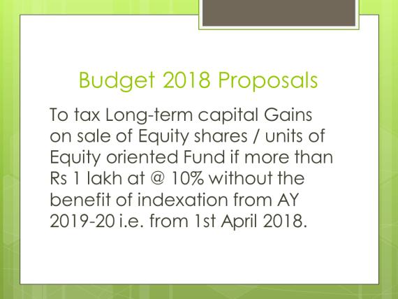 Long Term Capital Gain Tax