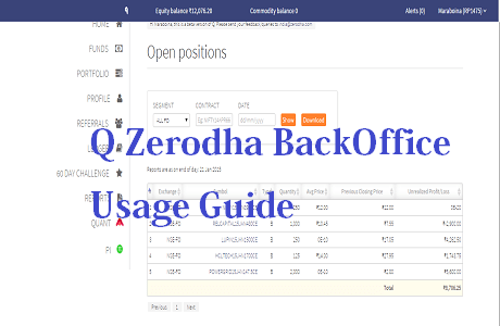 Q Zerodha BackOffice Usage Guide