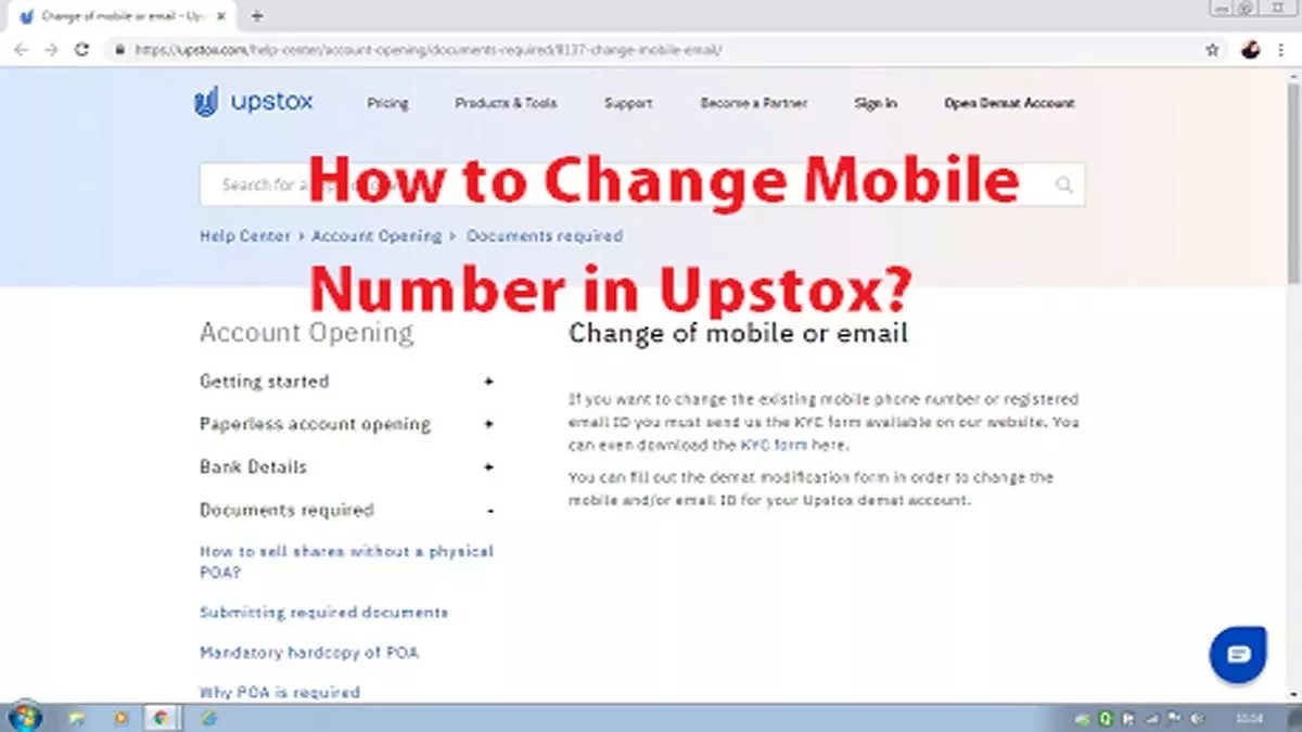 How to Change Mobile Number in Upstox pic