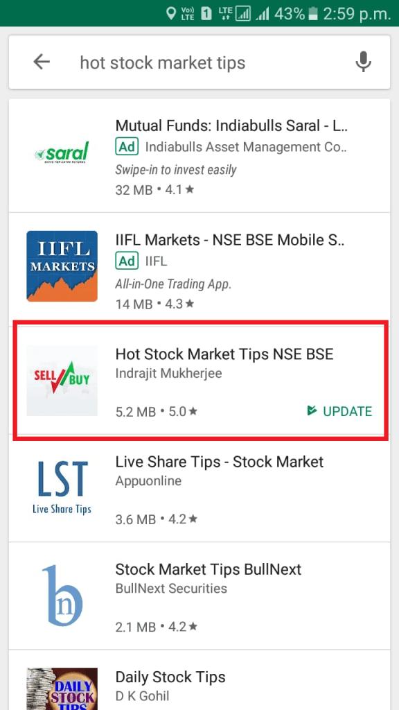 Stock Market Intraday Tips App