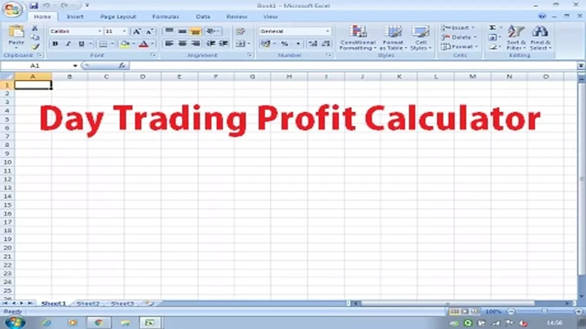Create Your Day Trading Profit Calculator in Excel
