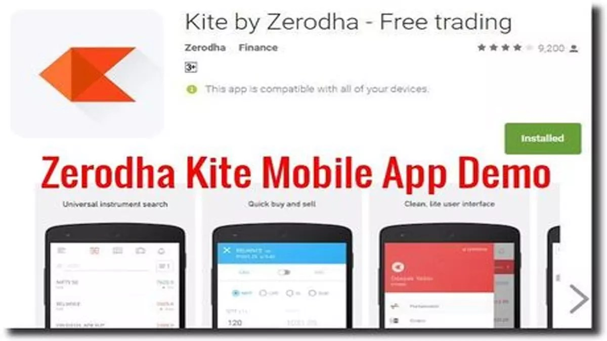 Zerodha Kite Mobile App Demo, Review And Comparison