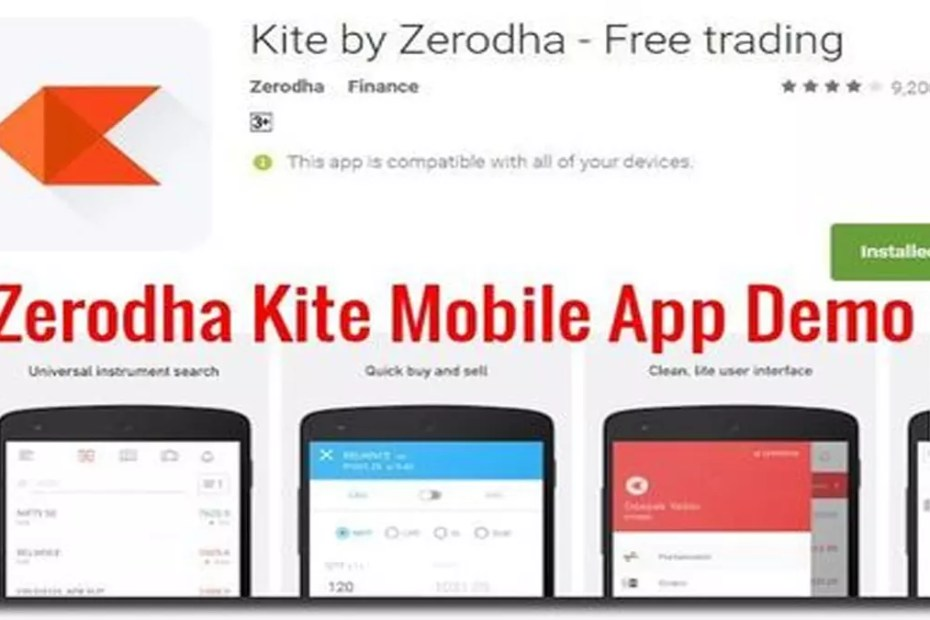 Zerodha-kite-mobile-app-demo new