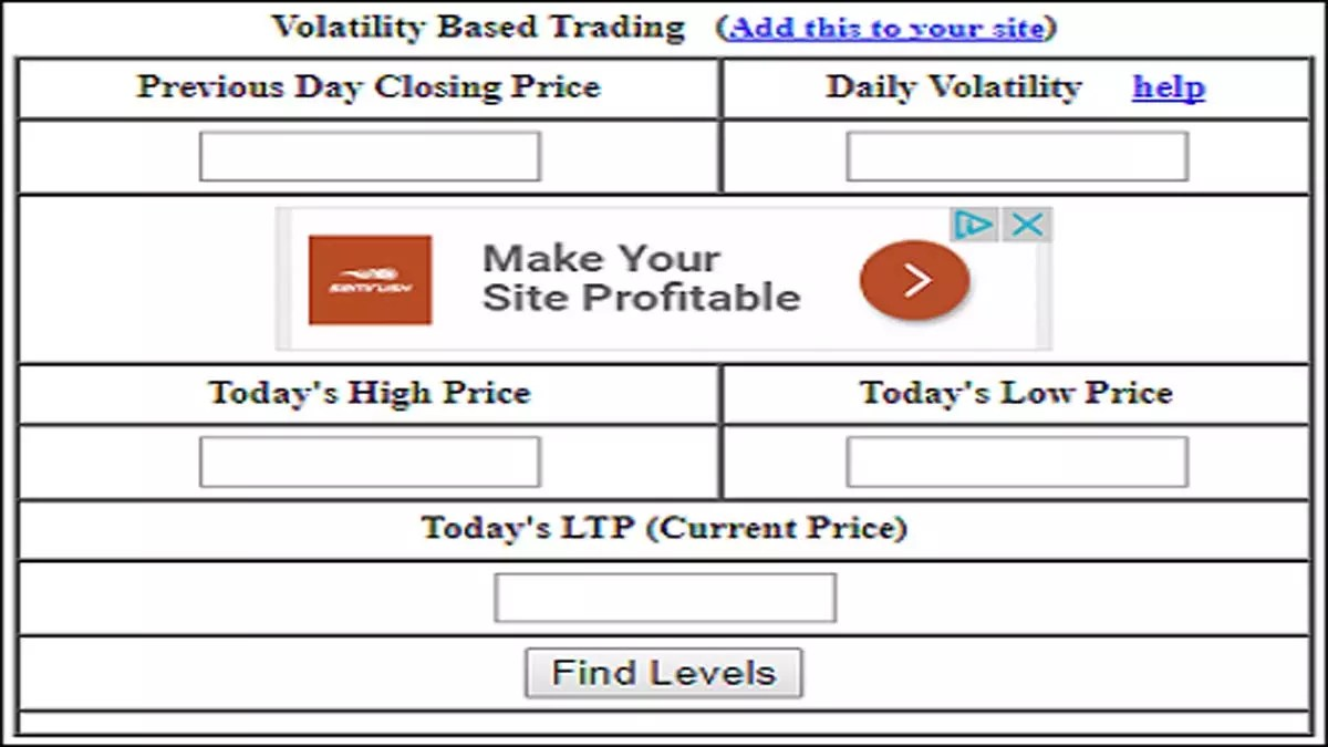Volatility Calculator